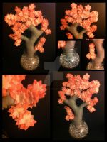 Felt Cherry Blossom Tree by PawprintExample