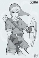 Skyward Sword Fan Art - Link by AlineMendes