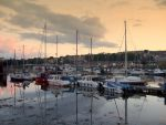 Whitby Harbour view at sunset by Sceptre63