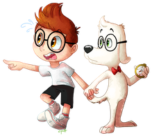 Sherman and Mr. Peabody by C-Puff