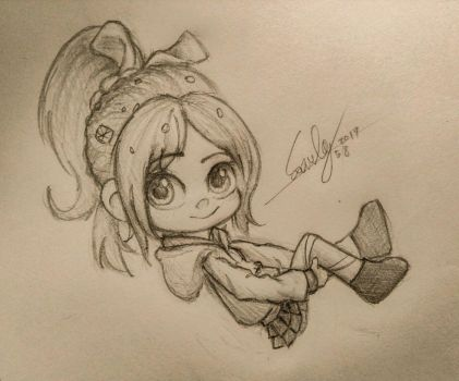vanellope sketch May 9 2017 by summilly