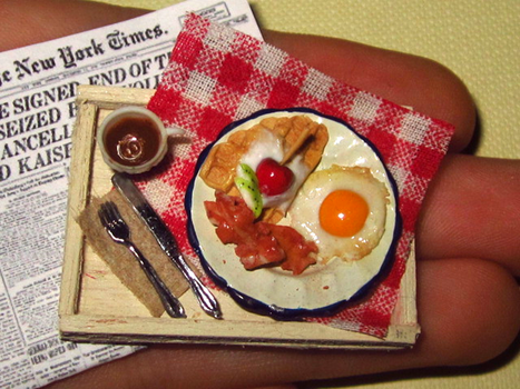 Miniature Breakfast Tray by sonickingscrewdriver