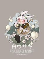 100110 white rabbit by bara-chan