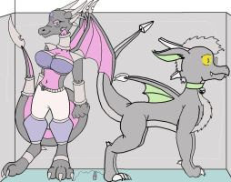 Cynder and Dratar Large by JohnnyXLunaandRD