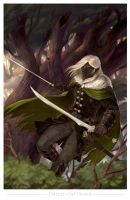 Drizzt Do'Urden by wood-illustration