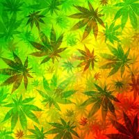 Marijuana Leaves Rasta Pattern by Bluedarkat