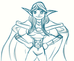 Carina the Bold - Sketch by nemalki