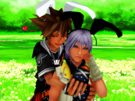 :SoRiku: Happy Easter 2014 by TemmieVega1999