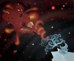 Elsa VS Jafar by TheTitan99