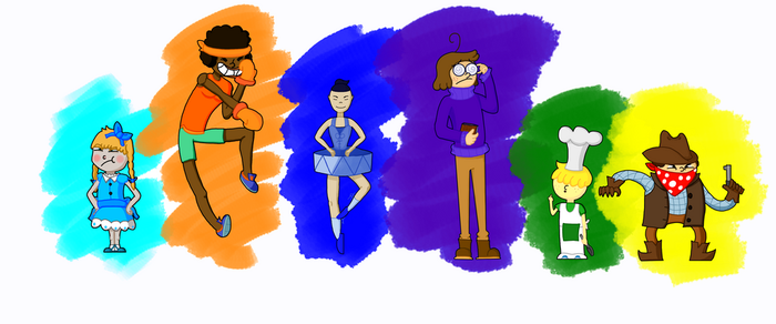 The 6 Humans by Allknownthings