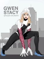 Gwen Stacy - SpiderWoman by Little-thoughtz
