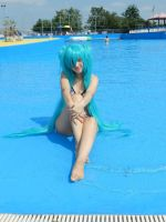 Miku Hatsune Summer version by Suika-cosplay
