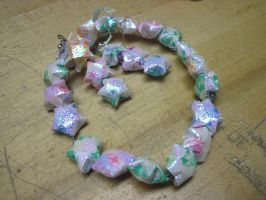 Shiny Star Origami Jewelry by MagicalMegumi