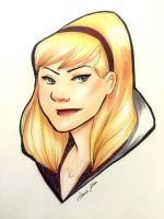 Gwen Stacy Copic Sketch by aimeezhou