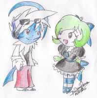 AT: Leo and Jade by CreamPuff-Pikachu
