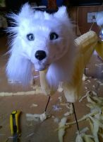 WIP Blueeyed Polarfox by Kreativjunkie