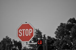 Stop - traffic sign and sign for mankind by Krash-Team