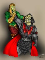 Hisss vs. Hordak - Coloration by maneus