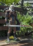 Geralt of Rivia statue by RavenMorgoth