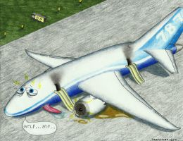 Dreamliner troubles by sharkplane77