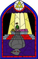 Stained Glass: Zelda II by Rebonack