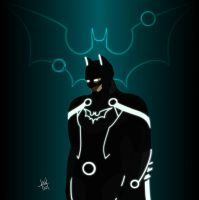 Batman TRON by Grimaldo-J