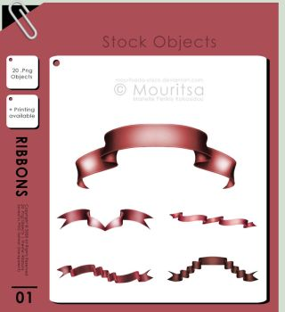 Object Pack - Ribbons by MouritsaDA-Stock
