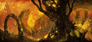home of fire by CursedhandArt