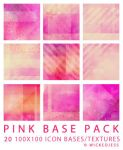 Pink Icon Base Pack by wickedjess