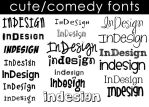 Cute-Comedy Fonts by Moonangel517