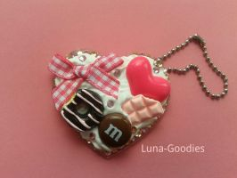 Decoden Heart Keychain Charm by Luna-Goodies