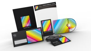 Rainbow design stationary by Lemongraphic