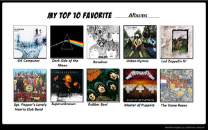 Top 10 Albums by Doctor-of-W