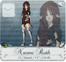 SL: Naomi Ruth :App Sheet: by TasukiAkana