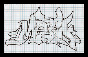 meta wildstyle piece outline by Bates1010