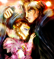 Anakin and Padme by liaartemisa