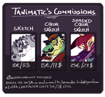 Sketch commissions by Tanimatic