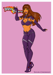 Teen Titans - Starfire Redesign by Femmes-Fatales