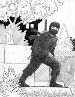 A Ninja In The Garden by avary
