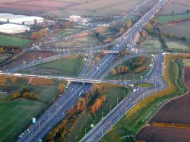Junction 13 of the M1 by captainflynn