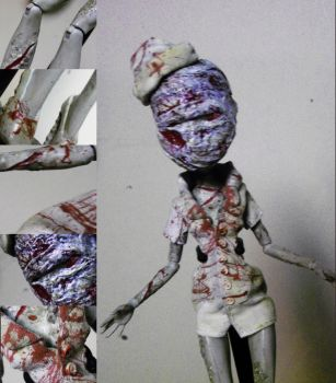 SOLD: OOAK MH SILENT HILL Nurse Ghoulia by mourningwake-press