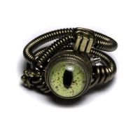 Reptile steampunk eye ring 5 by CatherinetteRings