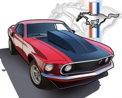 1970 Boss Mustang by bigboss1
