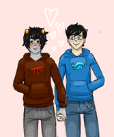 boyfriends in hoodies by EmpressoftheSheep