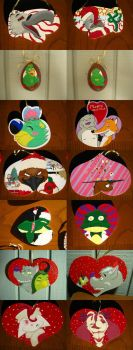 2014 christmas ornaments by SpoonForkington