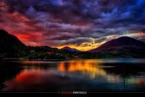 Sunset on Lake by razvanx