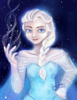 Paint Tool Sai Experient: Elsa by Delight046
