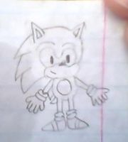 Classic Sonic drawing by Sweetgirl333