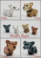 Wolf's Rain Sculptures by LeiliaClay