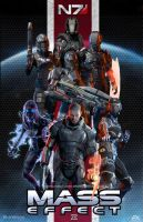 Mass Effect N7 DLC Fan Art Collage by rs2studios